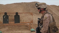 Soldiers conduct marksmanship training in Afghanistan. Stock Footage