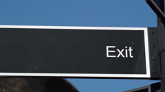 The exit arrow on the front part of the jail Stock Footage