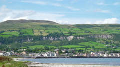 Landscape view of the mountain side in Ireland Stock Footage