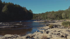 4k - Gimbal shot of a small river Stock Footage