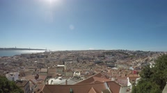 Time Lapse Lisbon, Portugal. Saint George Castle. Stock Footage