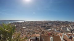 Lisbon, Portugal. Saint George Castle. Landscape on the city. Stock Footage