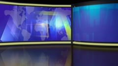 News TV Studio Set 218- Virtual Green Screen Background Loop Stock Footage
