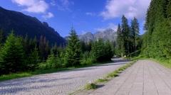 Walking to the sea eye in the Tatras Stock Footage