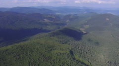 Aerial Over A Mountain forest Stock Footage