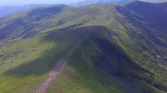 Aerial View Mountain Range in Ukraine Stock Footage