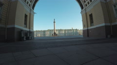 Arch Palace Square Stock Footage