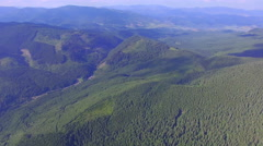 Aerial shot of the forest in the mountains Stock Footage