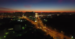 City night orange light Stock Footage