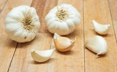 Garlic Contains a Compound Called Allicin, Medicinal Properties,  The Active Stock Photos