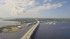 Beautiful Aerial View of St Lucie River Stock Footage