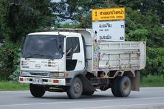 Private Old Hino Dump Truck. Kuvituskuvat