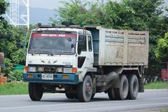 Private Old Mitsubishi Dump Truck. Stock Photos