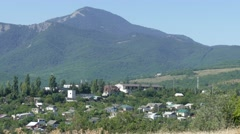 Village in the mountains Stock Footage