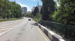 Autotravel Summer south Crimea. Road passing through the city of Yalta Stock Footage