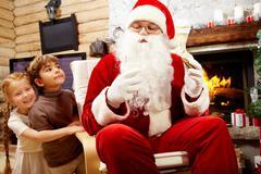 Santa Claus coming to visit Stock Photos