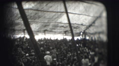 1948: inside this huge tent is a circus complete with large crowd  Stock Footage