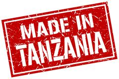 Made in Tanzania stamp Stock Illustration