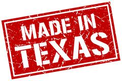 Made in Texas stamp Stock Illustration