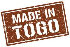 Made in Togo stamp Stock Illustration