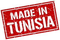 Made in Tunisia stamp Stock Illustration