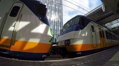 Train StationPlatform With Modern Train Stock Footage