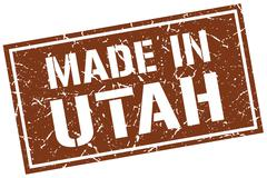 Made in Utah stamp Stock Illustration