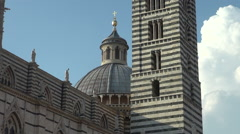The famous cathedral in Siena,real time, 50 fps Stock Footage