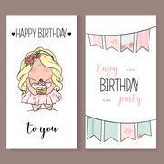 Romantic Invitation announcement or congratulation card Stock Illustration