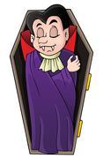 Vampire theme image - eps10 vector illustration. Piirros