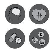 Health icons. medicine. medical signs Stock Illustration