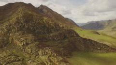 AERIAL panoramic view of colorful hillsides Stock Footage