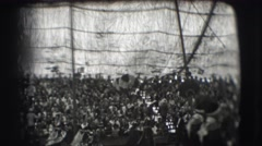 1948: people in costumes parading with animals under a tent CHICAGO Stock Footage