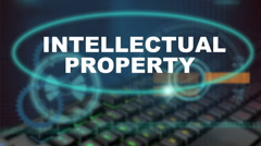 Intellectual property related words Stock Footage