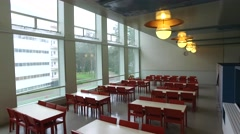 Dining hall in Paimio Sanatorium Stock Footage