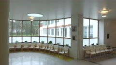 Reception hall in Paimio Sanatorium Stock Footage