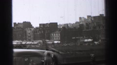 1952: busy movements of a growing city EDINBOURGH, SCOTLAND Stock Footage