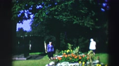 1952: a park scene is seen with beautiful flowers and grass area EDINBOURGH, Stock Footage