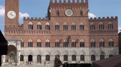 Main square in Piazza del Campo in Siena, 50fps ,real time Stock Footage