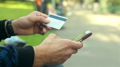 Online banking with smart phone Stock Footage