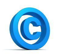 Copyright symbol concept  3d illustration Stock Illustration