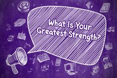 What Is Your Greatest Strength - Business Concept Stock Illustration
