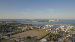 Aerial View of Downtown Fort Pierce Florida in August 2016 Stock Footage