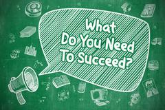 What Do You Need To Succeed - Business Concept Stock Illustration