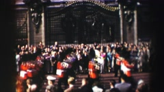 1952: people are seen marching with royal uniform EDINBOURGH, SCOTLAND Stock Footage