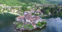 Lierna - Riva Bianca - Como Lake Stock Footage