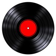 Gramophone record (isolated, done in 3d) Stock Illustration
