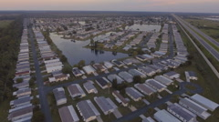 Establishing Aerial View of Retirement Community in Florida Stock Footage