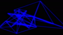Abstract Futuristic Geometric Laser Background Stock Footage