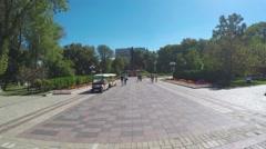 In Shevchenko Park in Kiev Stock Footage